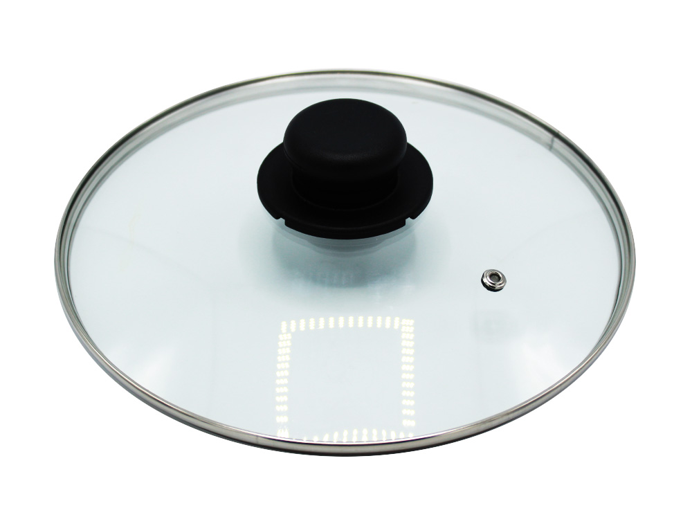 Tempered Glass Lid for Pan Diameter 24cm Line Rock Quality Made in Italy