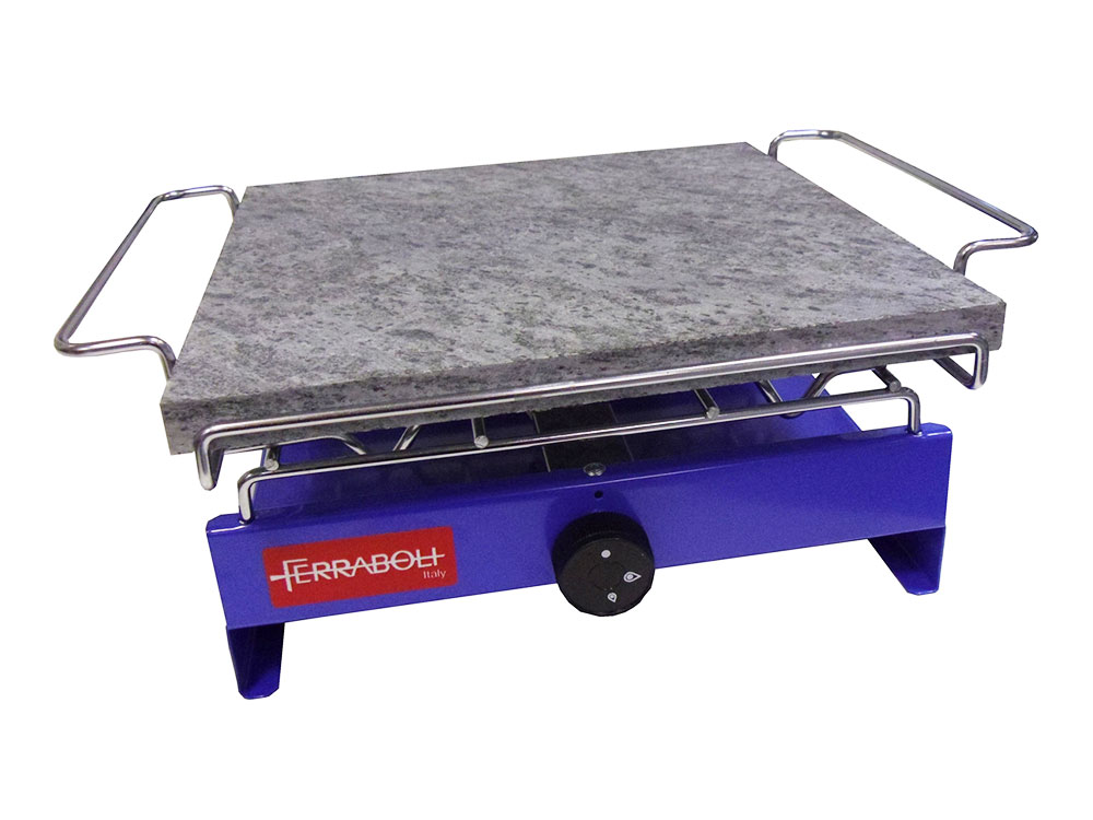 Acquista ferraboli forno a gas con pietra ollare per for Fornello da campeggio a gas 3 fuochi