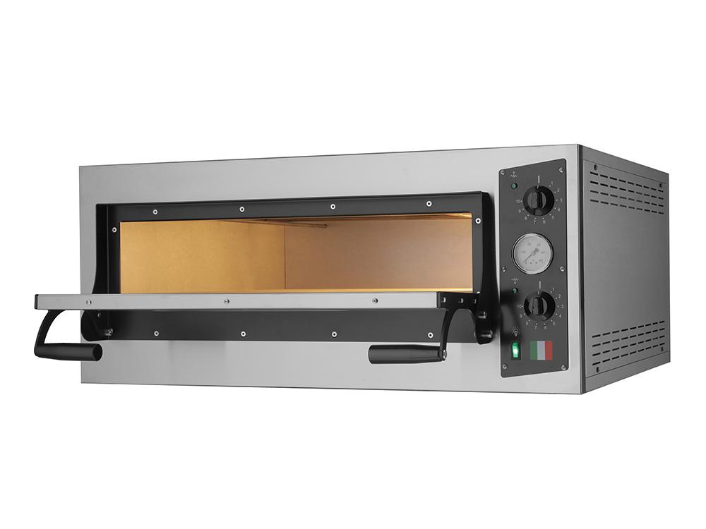 Scopri il forno elettrico per cucinare 4 pizze insieme eco 4 in acciaio foxchef - Forno elettrico per pizze ...