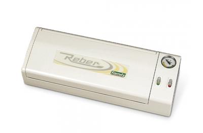 9700 N Family Macchina Sottovuoto Bianco 32cm Reber per Risparmiare sulla Spesa e Mangiare Sostenibile