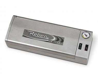 9701 N De Luxe Macchina Sottovuoto Silver 32cm Reber per Togliere Aria da Contenitori in Modo Professionale