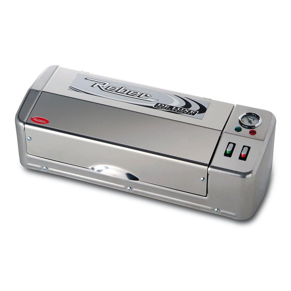 9707 N Macchina Sottovuoto Deluce Inox Professional 32cm Reber Per Mantenere Cibi in Modo Professionale