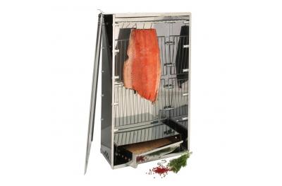 Affumicatore 10040N in Acciaio Inox Ideale per Affumicare Carne e Pesce Anche in Casa