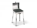 Mono Inox Ferraboli Barbecue a Gas GPL con Coperchio per una Cottura Omogenea e Veloce di Carne e Verdura