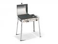 Combinato Inox Ferraboli Barbecue a Gas GPL con Coperchio e Fornello per una Cottura Omogenea e Veloce degli Alimenti