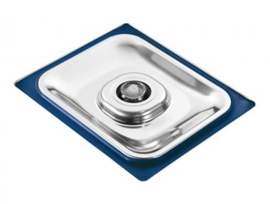 Coperchio per Contenitore Gastronorm Sottovuoto in Acciaio Inox con Guarnizione Colorata