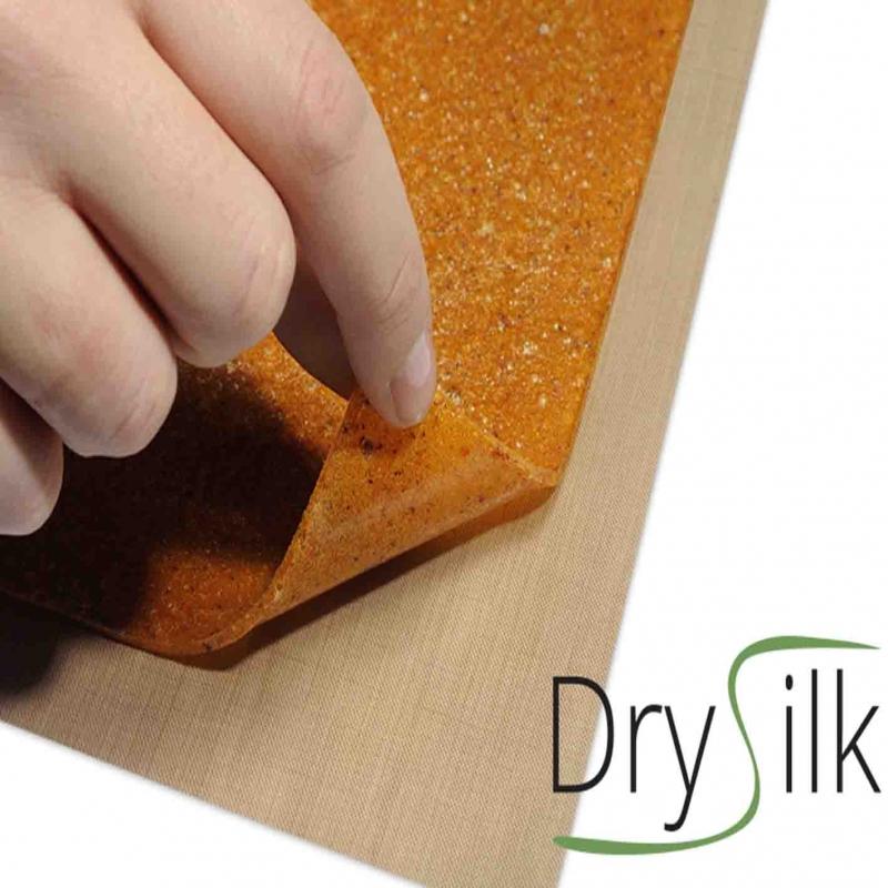 Dry Silk 5 Fogli Antiaderenti per Essiccare Cibi Acquosi, Puree, Foglie e Fiori negli Essiccatori Tauro Biosec