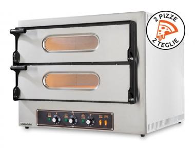 Forno Elettrico Doppio per Pizze e Teglie Kube 2 in Acciaio Inox con Qualità Italiana by Resto Italia