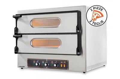 Forno Elettrico Doppio per Pizze e Teglie Kube 2 in Acciaio Inox con Qualità Italiana by Foxchef Essentials