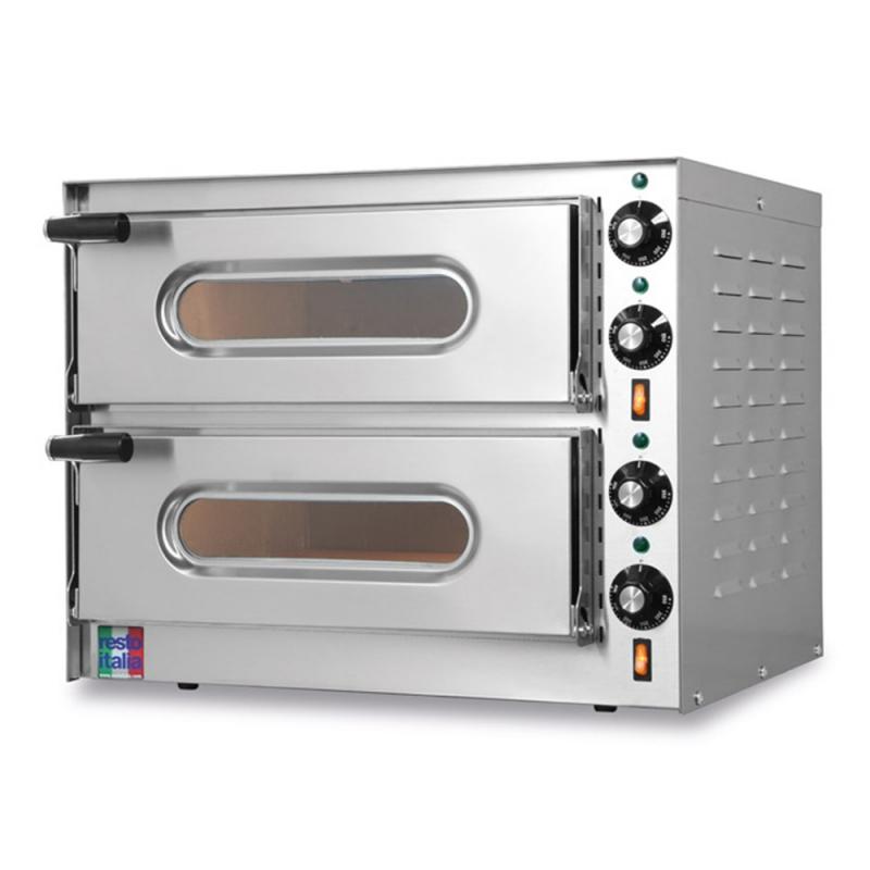 Forno Elettrico Doppio per Pizze Small-G2 100% Monofase 230V Made in Italy by Resto Italia