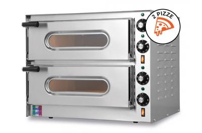 Forno Elettrico Doppio per Pizze Small-G2 Monofase 230V 100% Made in Italy