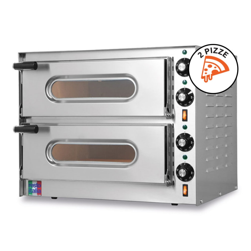 Forno Elettrico Doppio per Pizze Small-G2 Monofase 230V 100% Made in Italy by Resto Italia