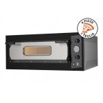 Forno Elettrico per 4 Pizze Eco 4 Nero 230V-400V per Cucinare Sostenibile