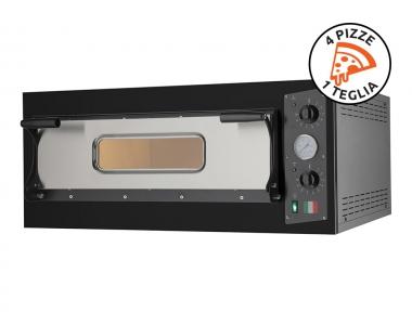 Forno Elettrico per Pizze Eco 4 Nero 230V-400V per Cucinare in Modo Sostenibile