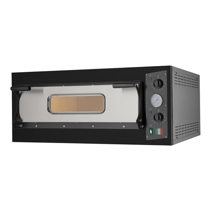 Forno Elettrico per Cucinare Teglie di Pizza Eco 6 Nero 230V-400V Made in Italy
