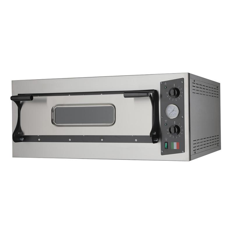 Forno Elettrico per Pizze Eco 4 Nero 230V-400V per Cucinare Sostenibile