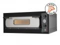 Grande Forno Elettrico per Cucinare Molte Pizze Insieme Eco 6 Nero 230V-400V Prodotto in Italia