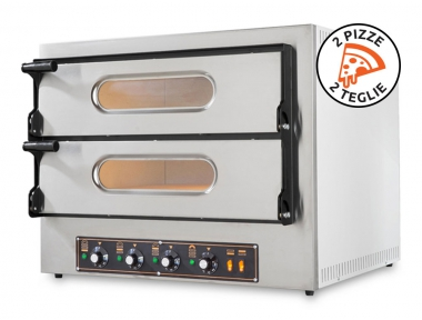Forno Elettrico Potente per Pizzerie Kube 2 Plus 6,4Kw in Acciaio Inox by Resto Italia