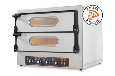 Forno Elettrico Potente per Pizzerie Kube 2 Plus 6,4Kw in Acciaio Inox by Foxchef Essentials