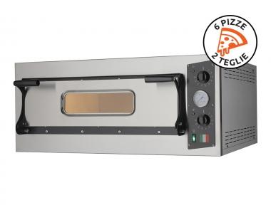 Forno Professionale a Corrente per Cucinare Tante Pizze Insieme Eco 6 Steel 400V Made in Italy