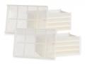 Kit 10 Cestelli in Plastica Alimentare CEB 10 per Ricambio e Sostituzione su Essiccatori Domus e Silver Tauro Biosec
