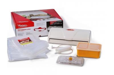 Kit 9346 NF Salvaspesa Plus Sottovuoto Bianco 32cm Reber con Inclusi Sacchetti e Contenitore con Attacco