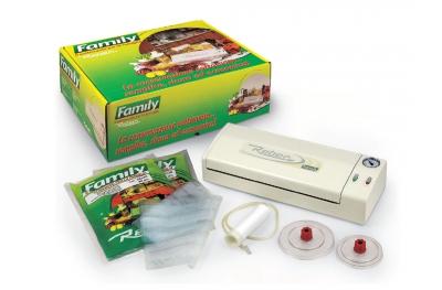 Kit Regalo 9700 NF Family Macchina Sottovuoto Bianco 32cm Reber Con Tanti Sacchetti Inclusi Nel Prezzo