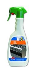 KT5 Sgrassante per Forni Cappe e Griglie Kiter KT-Line 500ml Consigliato per la Pulizia del Barbecue