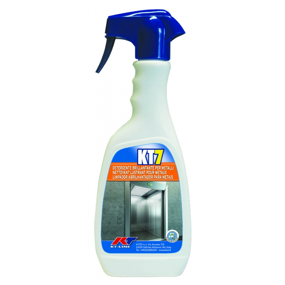 KT7 Detergente Brillantante per Metalli Kiter KT-Line 500ml Flacone con Nebulizzatore