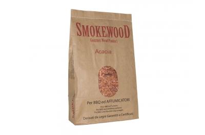Legno Acacia Alpina per Profumare Carne del Barbecue 3,3 Lt Smoke&Wood
