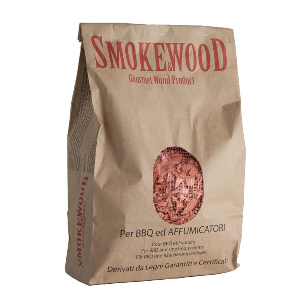 Legno Ciliegio Selvatico Alpino del Trentino in Trucioli per Barbecue e Affumicatori 3,3 Lt Smoke&Wood