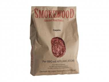 Legno Naturale Carpino Trentino in Trucioli per Barbecue e Affumicatori 3,3 Lt Smoke&Wood