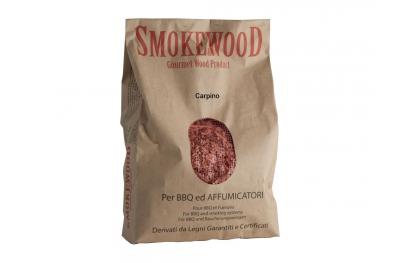 Legno Naturale Carpino Trentino in Trucioli per Barbecue e Affumicatori 3,3 Lt Smoke&Wood