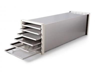 Modulo di Espansione Deluxe MC12 in Acciaio Inox per Aumentare la Quantità di Cibo Essiccabile Biosec Tauro Design Italiano