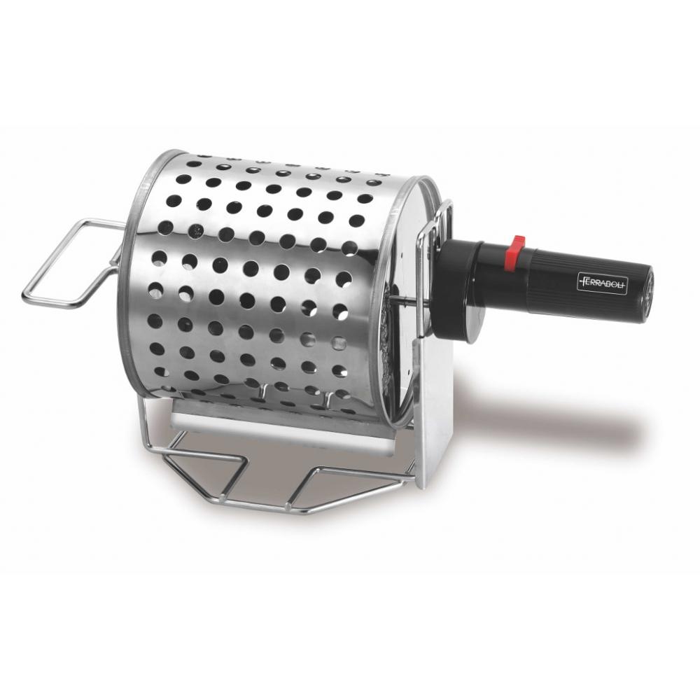 Mono Inox Ferraboli Barbecue a Gas GPL con Coperchio per Migliore Cottura Omogenea e Veloce di Carne e Verdura