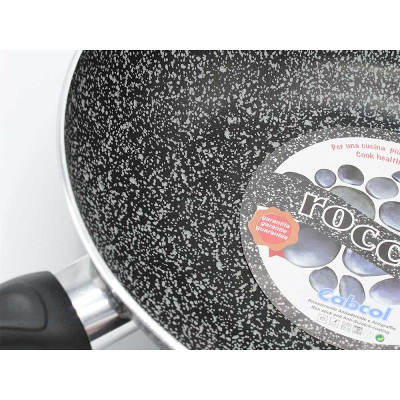 Padella Linea Roccia Diverse Misure Alluminio con Manico Soft Touch Made in Italy