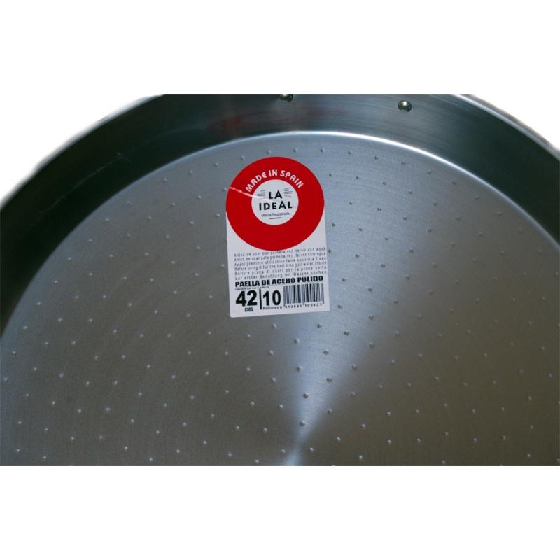 Paella Spagnola Kit All Inclusive Padella in Ferro Ø 42 cm con Fornello e Supporto Made in Spain by Garcima