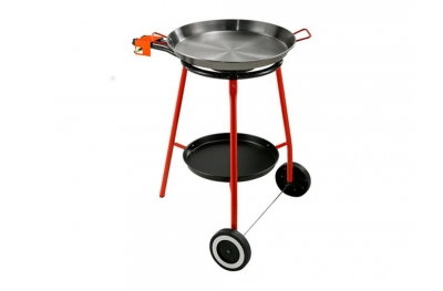Paella Spagnola Kit All Inclusive Padella in Ferro Ø 42 cm con Fornello e Supporto Made in Spain by Garcima