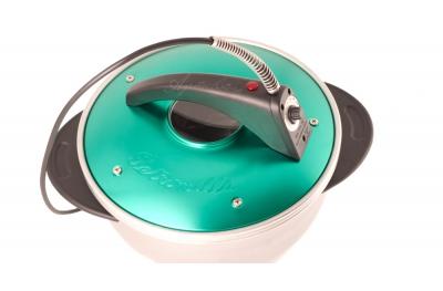Petronilla Pentola Forno Elettrico Portatile Colore Verde Made in Italy